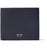 Tom Ford Full Grain Leather Billfold Wallet Blue