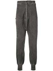 Lost And Found Rooms Zip Detail Drop Crotch Trousers Grey