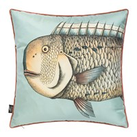Fornasetti Grande Pesce Silk Cushions Set Of Two 45X45cm