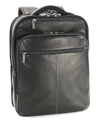 Kenneth Cole Reaction Columbia Leather Backpack Black