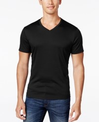 Alfani Men's Travel Stretch T Shirt Deep Black