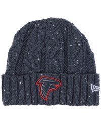 New Era Women's Atlanta Falcons Frosted Cable Knit Hat Darkgray