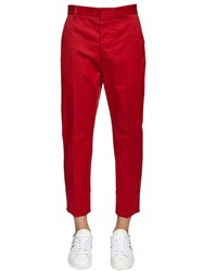 Dsquared Brad Stretch Cotton Twill Pants Red