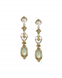 Konstantino Amphitrite Agate And Pearl Dangle Earrings Blue
