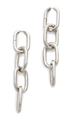 Alexander Wang Four Link Earrings Rhodium