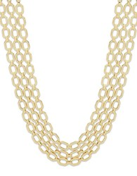 Ivanka Trump Multi Row Chain Necklace Gold