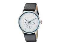 Ted Baker Classic Collection Custom Multifunction Sub Eye W Contrast Detail Date Leather Strap Watch White Watches