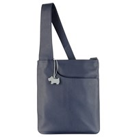 Radley Pocket Leather Medium Across Body Bag French Navy