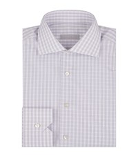 Stefano Ricci Fine Check Shirt Male Grey