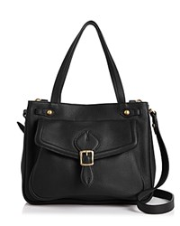 Annabel Ingall Dominic Leather Satchel Black Gold