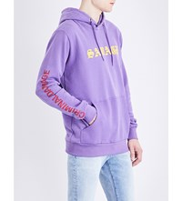 Criminal Damage Savage Cotton Blend Hoody Purple