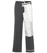 Monse Deconstructed Stretch Wool Pants Grey
