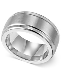 Triton Men's Stainless Steel Ring 9Mm Wedding Band