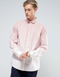 Weekday Aperture Horizon Shirt Ombre 37119 Pink Ombre Green