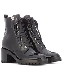 Gianvito Rossi Croft Patent Leather Ankle Boots Black