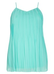 Evans Plus Size Mint Pleat Camisole
