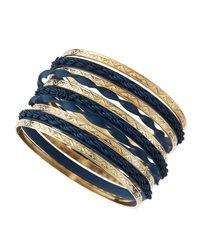 Jules Smith Designs Matte And Golden Bangles Set Of 10 Jules Smith