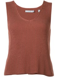 Vince Sleeveless Top Red