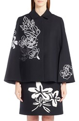 Fendi Women's Floral Embroidered Wool And Silk Cape