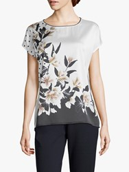 Betty And Co. Floral Print Top White