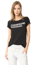 Chaser Champagne Weekend Tee Black