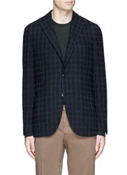 Boglioli 'K Jacket' Check Boucle Soft Blazer Blue