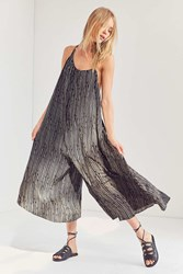 Silence And Noise Breezy Asymmetrical Jumpsuit Black And White