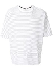 Bassike Striped Round Neck T Shirt White