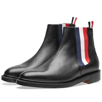 Thom Browne Tricolour Chelsea Boot Black