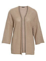 Marc O'polo Cardigan With 3 4 Sleeves Beige