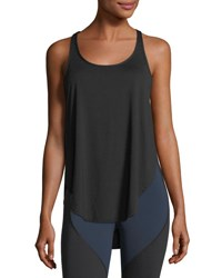 Michi Shadow Scoop Neck Performance Tank Black