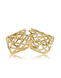 Bernard Delettrez Gold Articulated Basket Weave Ring