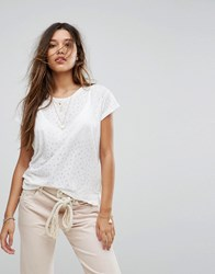 Maison Scotch Burnout T Shirt 18 White