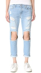 7 For All Mankind Josefina Boyfriend Jeans Lt Blue Cut Out And Peekaboo 2