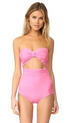 Kate Spade Marina Piccola Scalloped Cutout One Piece Teatime Pink