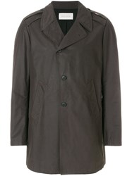Mauro Grifoni Single Breasted Coat Grey