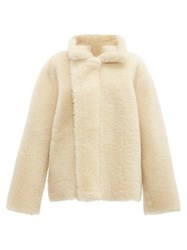 Bottega Veneta Reversible Shearling And Suede Jacket Cream