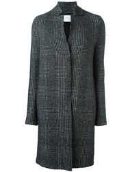 Harris Wharf London Notched Stand Collar Coat Black