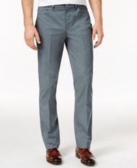 Alfani Men's Flat Front Stretch Slim Fit Pants Only At Macy's Off Shore Mist