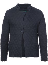 Casey Casey Quilted Fitted Jacket Blue