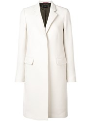 Paul Smith Ps By Classic Single Breasted Coat Neutrals