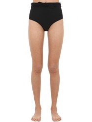 Tory Burch Bow High Rise Bikini Bottoms Black