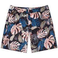 Saturdays Surf Nyc Trent Monstera Swim Short Black
