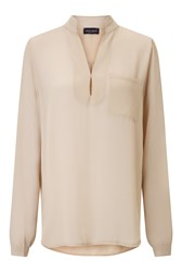 James Lakeland Long Sleeve Pockets Blouse White
