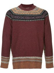 Kent And Curwen Patterned Sweater Red