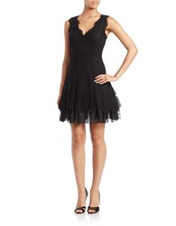 Betsy And Adam Lace Fit Flare Dress