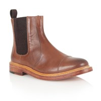Lotus Lexton Slip On Casual Chelsea Boots Brown