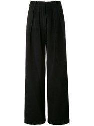 Jay Ahr High Waisted Palazzo Pants Black