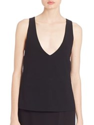 Dkny Deep V Neck Tank Black