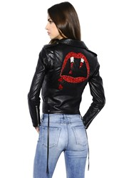 Saint Laurent Blood Luster Biker Leather Jacket